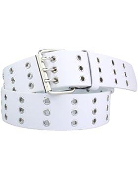 Nietengürtel Damen Herren Nieten Gürtel Jeansgürtel weiß schwarz braun rosa grau bis 135cm XXL