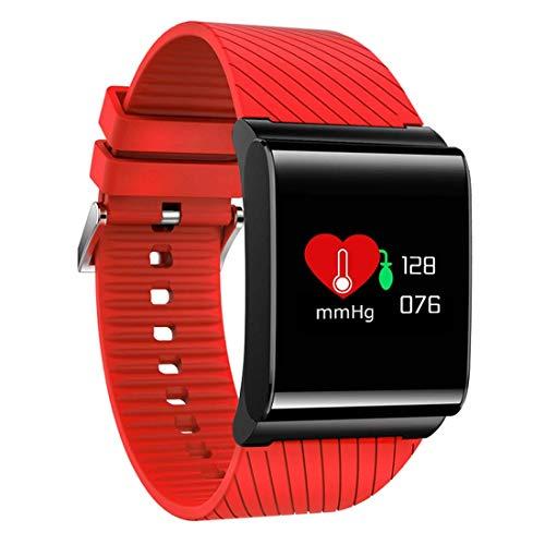 HHRONG Touch Color Screen Ip67 wasserdichtes intelligentes Armband, Herzfrequenz-Überwachungsschlaf-Überwachungssport-Schritt Bluetooth intelligentes Armband-red Farb-multifunktions-navigations-display