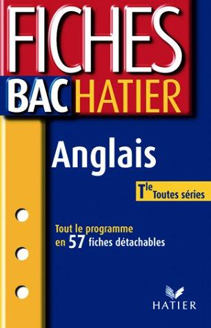 Fiches Bac Hatier : Anglais, terminale, toutes séries