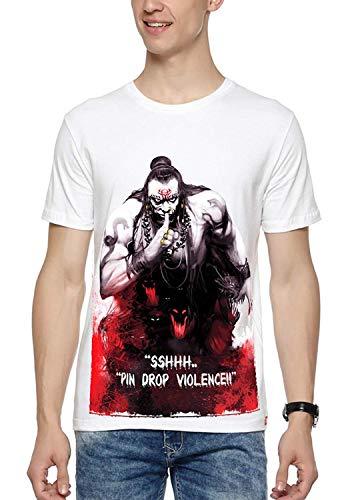 WYO Wear Your Opinion Mens Printed Regular Fit T-Shirt (WYO001654RNT-M-XXXL-White_White_XXX-Large)