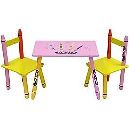 Bebe Style, set di sedie e tavolo in legno, per bambini