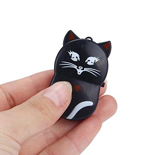 Malloom Mini Lindo Gato USB Clip reproductor de MP3 Pantalla LCD Soporte 32GB Micro SD TF Card (negro)