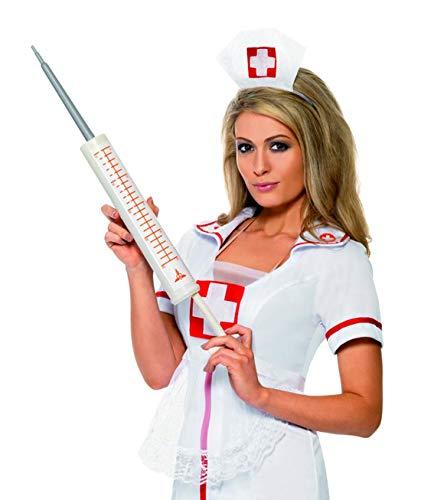 Kostüm Naughty Arzt - Luxuspiraten - Kostüm Accessoires Zubehör Doktor Arzt Krankenschwester Jumbo Riesen Spritze, perfekt für Karneval, Fasching und Fastnacht, Weiß