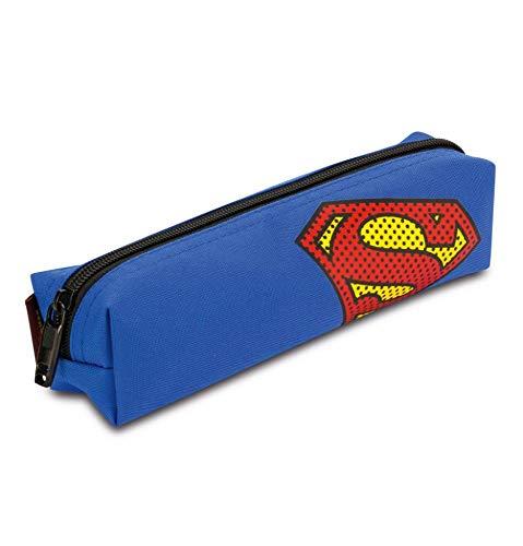 tiftemappe für Schule - Federmäppchen für Jungen, Mädchen Teenager - Mäppchen für Schreibwaren - Federmappe, Federtasche für Studenten (Superman) ()