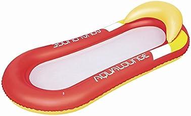 Queta Wasserhängematte Luftmatratze aufblasbare Schwimmende Wasser Bett Strandmatte Floating Lounge Stuhl (Rot)