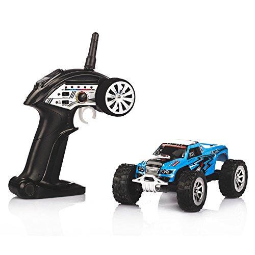 Tera WLtoys Ferngesteuertes Auto Mini-Truck A999 Spielzeugauto 25 km/h Max. Speed inkl. 2.4GHz Fernbedienung USB-Ladekabel (Blu Game Control)