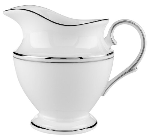 Lenox Federal Platinum Tafelservice aus feinem Porzellan, 5-teilig Kaffeesahne Creamer weiß -