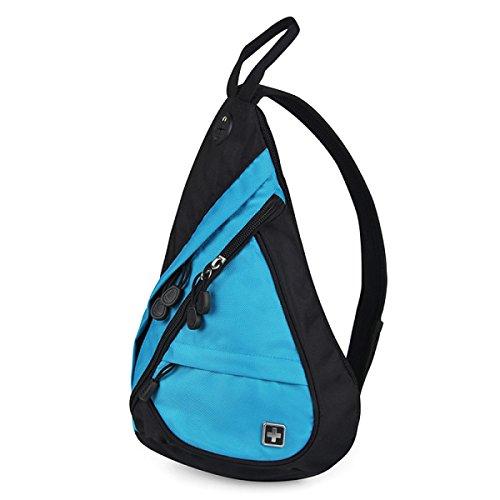 BULAGE Chest Pack Outdoor Freizeit Männer Schulter Trägt Sport Diagonal Kompakt Einfach Reisen Mahlzeiten Blue