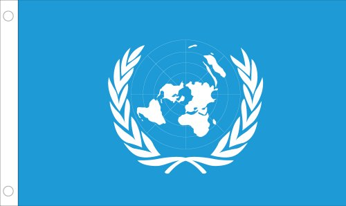 Allied Flag Outdoor Nylon United Nations Union Nation Flagge 2 by 3-Feet (United Nations-flag)