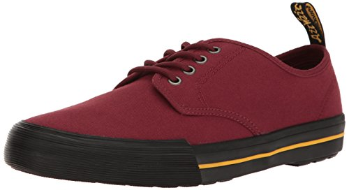 Dr.Martens Mens Pressler 4-Eyelet Canvas Trainers Cherry