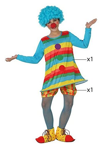 Imagen de angel tomas s.a.  disfraz payasa infantil, talla 4, 10 12 años