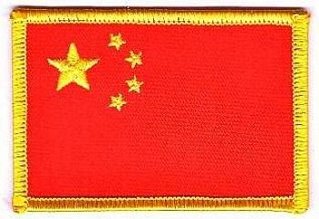 Flaggen Aufnäher Patch China Fahne Flagge NEU
