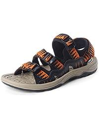 GAOLIXIA Herren Leder Atmungsaktive Sandalen Sommer Hausschuhe Sport Freizeitschuhe Outdoor Beach Schuhe