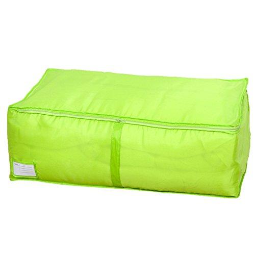 Kleidung Bettdecken Bettwäsche Kissen Aufbewahrungstasche Organizer Beutel (grün, S(80*45*29cm))