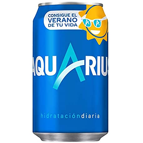 Aquarius Bebida para deportistas refresco sin gas 330 ml Pack de 8 Lata
