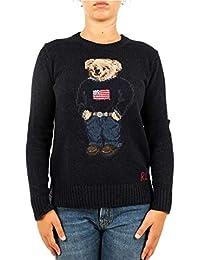 Polo Ralph Lauren Maglia Polo Bear in Cotone e Lino Donna Mod. 211698558