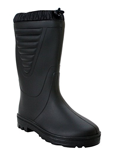 Stormwells Mens Boys Polar Black Warm Thermal Fleece Lined Fishing Wellies Waterproof Wellingtons Boots UK Sizes 4-12