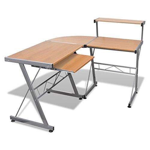 ecktisch holz vidaXL Computertisch Schreibtisch Arbeitstisch Ecktisch PC Tisch Büro braun
