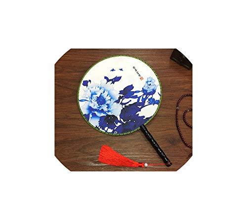 Archiba Decoration Fans Chinese Style Antike Doppel Druck Runde Fan Klassischer Tanz Handventilator Geeignet für alte Art Kostüm, A20 (Tanz Stöcke Für Kostüm)