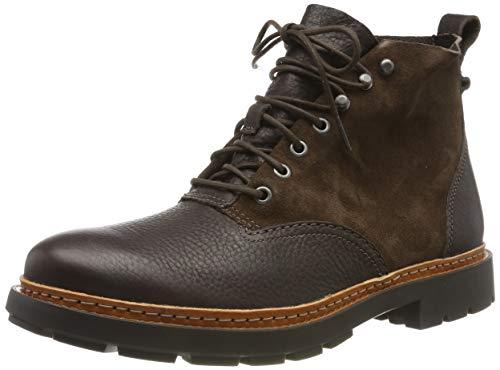 Clarks Herren Trace Explore Biker Boots, Braun Dark Brown Combi, 44 EU -