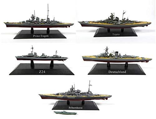 Unbekannt Los von 5 Deutschen Kriegsschiffen des 3. Reiches / Sammlung 1: 1250 (Ref: WSL5)