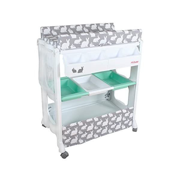 My Babiie Baby Bath and Changing Unit, Grey Rabbits 2