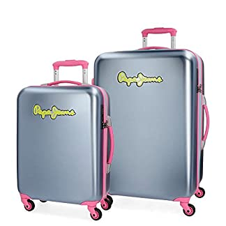 Pepe Jeans Bristol Juego de maletas, 136 litros, 77 cm, Gris