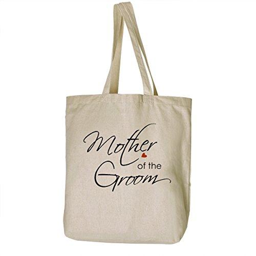 ElegantPark Mother Natur Segeltuch 100% Baumwolltasche Beutel mittlere Hochzeits Bevorzugungs Geschenk Beutel Handtasche Mother of the Groom