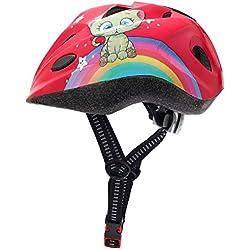 SkullCap® Casco de Bicicleta para niños diseñado por Profesionales - Casco de Bicicleta para niños, Color Rosa Gato, tamaño S (48-52 cm)