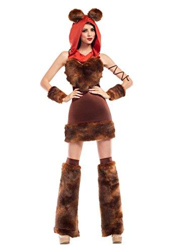 Womens Cute Furry Space Creature Fancy dress costume Medium