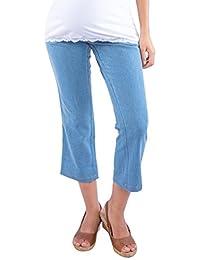 Morph Maternity - Light Blue Denim Capri / Maternity Wear / Pregnancy Wear / Maternity Pants / Pregnancy Pants / Maternity Bottoms / Pregnancy Jeans / Maternity Jeans