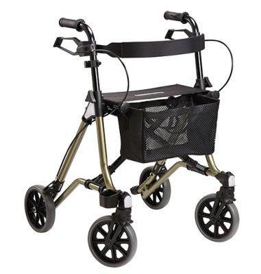 Dietz Taima M-GT Leichtgewichtrollator aus Aluminium mit Rückengurt und Tasche und nur 5,8 kg Eigengewicht