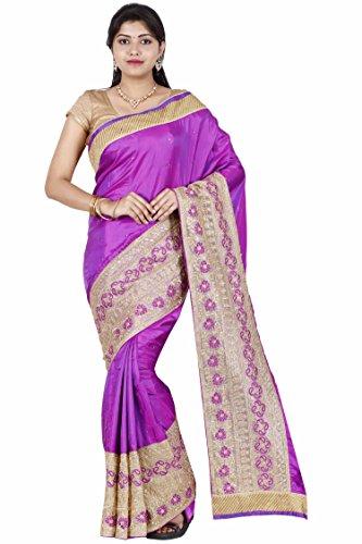 The Chennai Silks - Embellished Art Silk Saree - Purple - (CTCSSY097)