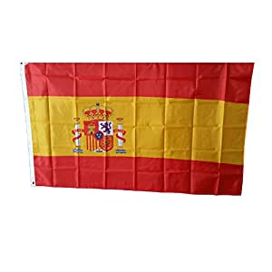 MM Spanien Flagge/Fahne, wetterfest, mehrfarbig, 150 x 90 x 1 cm, 16302