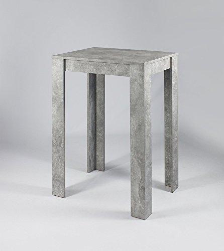 HOMEXPERTS, Bar-Tisch NIKA, Kleiner Steh-Tresen 100 cm hoch, Küchen-Beistelltisch in Beton -Optik, Bartresen inFarbton grau , B 80, H 104 , T  60 cm