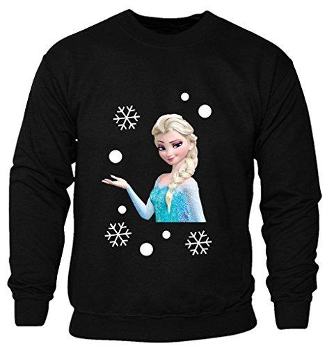 New Kids Childrens Boys Girls Frozen Disney Queen Elsa Printed Christmas Sweatshirt Jumpers 2-14 years (Kids 5-6 Years) (Girls Disney)