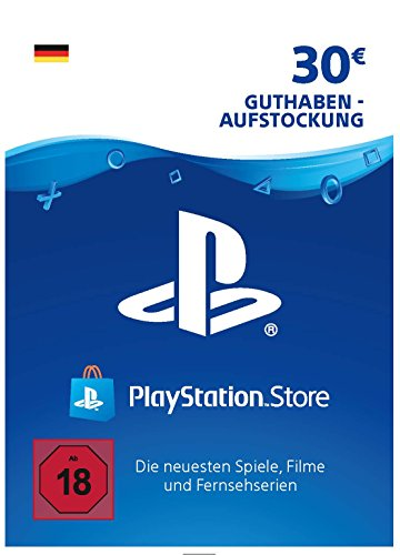 PSN Card-Aufstockung | 30 EUR | PS4, PS3, PS Vita Playstation Network Download Code - deutsches Konto (Ps Vita-ps3)