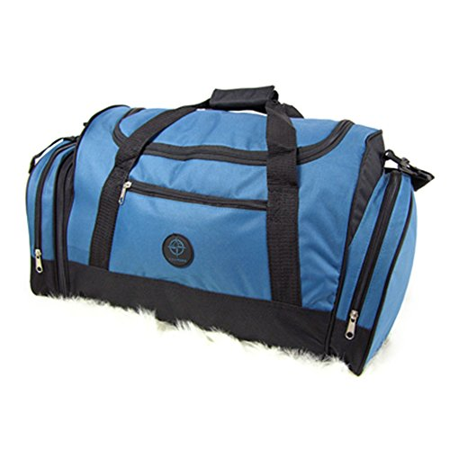 Fashion Essentials-Travel Deposito Cargo velcro handle di binding Borsone Duffle Bag (BLUE) BLUE