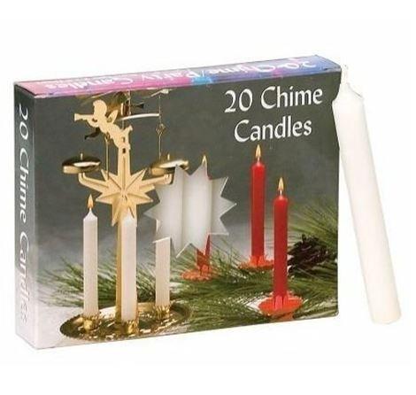Biedermann & Sons Chime/Party Kerzen–Weiß 2Boxen von je 20