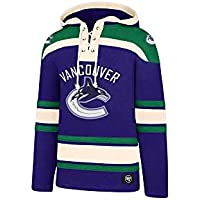 '47 Brand Vancouver Canucks Lacer Jersey Hoodie NHL Sweatshirt