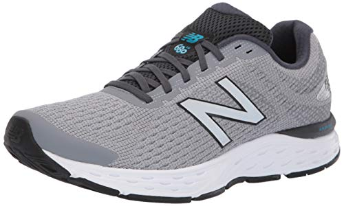 1. new balance Men's 680 Light Grey Running Shoes