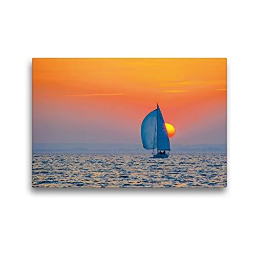 Premium Textil-Leinwand 45 x 30 cm Quer-Format Sundowner | Wandbild, HD-Bild auf Keilrahmen, Fertigbild auf hochwertigem Vlies, Leinwanddruck von Irk Boockhoff