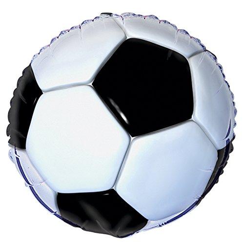 Folienballon * FUSSBALL * für Kindergeburtstag oder Motto-Party // Folien Ballon Party Helium Deko Ballongas Motto Sport WM EM Stadion