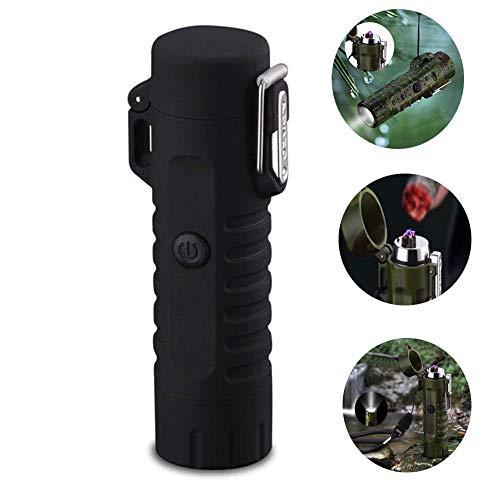leegoal Dual Arc Feuerzeug, flammenlose Portable wasserdicht Winddicht Plasma Leichter und Taschenlampe, USB wiederaufladbaren elektrischen Feuer-Starter für Kerze Zigarette Outdoor BBQ
