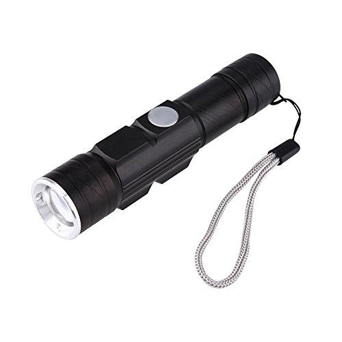 LED Taschenlampe, USB wiederaufladbar EMB Kleine Tasche tragbar Aluminium Korpus aus Legierung Super Bright LED Handheld Fake Währung Inspektion Taschenlampe Taschenlampe Lampe mit Lanyard -