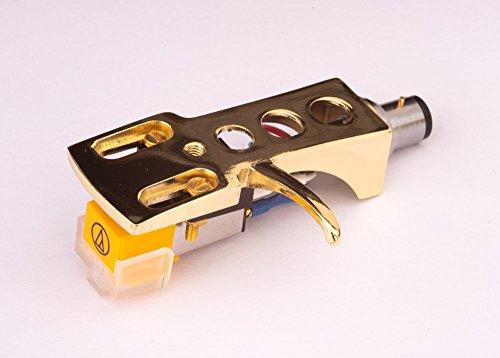 Spiegel Vergoldet beschichtet Schale, Halter mit AT Tonabnehmer, Nadel für Hitachi PS-17, PS-58, PS-15, HT-324, HT-320, HT-355, PS-33, PS-8, HT-460, HT-464, HT-561