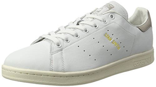 adidas Unisex-Erwachsene Stan Smith Basketballschuhe, Weiß (Footwear White/Footwear White/Clear Granite), 46 2/3 EU
