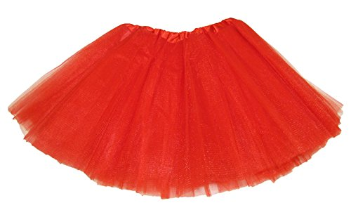 Hairbows Unlimited Red 5-lagiges Tanz- oder Ballett-Tutu, Rot