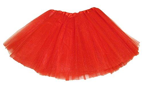 Hairbows Unlimited Red 5-lagiges Tanz- oder Ballett-Tutu, Rot (Kinder Tanz Kostüm Großhandel)