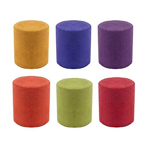 Syfinee Pastel de Humo 6 Colores, Accesorios de Fotografía Redondos, Escenario de Cine, Fiesta, Efecto de Humo